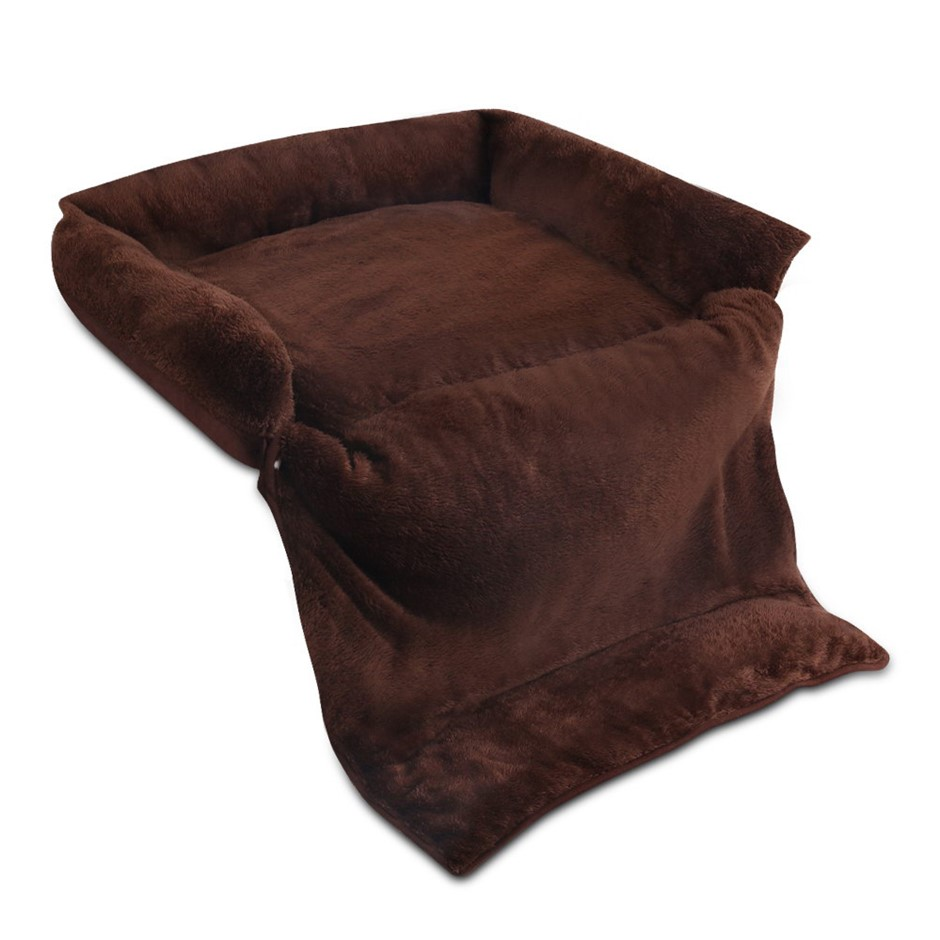 i.Pet Medium 3 in 1 Foldable Pet Bed - Brown