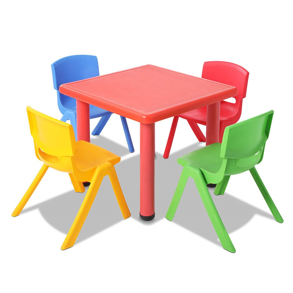 f97a6e8c13ac Keezi 5 Piece Kids Table and Chair Set - Red
