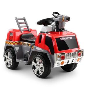 Rigo Kids Ride On Fire Truck Car - Red &