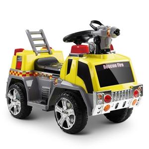Rigo Kids Ride On Fire Truck Car - Yello
