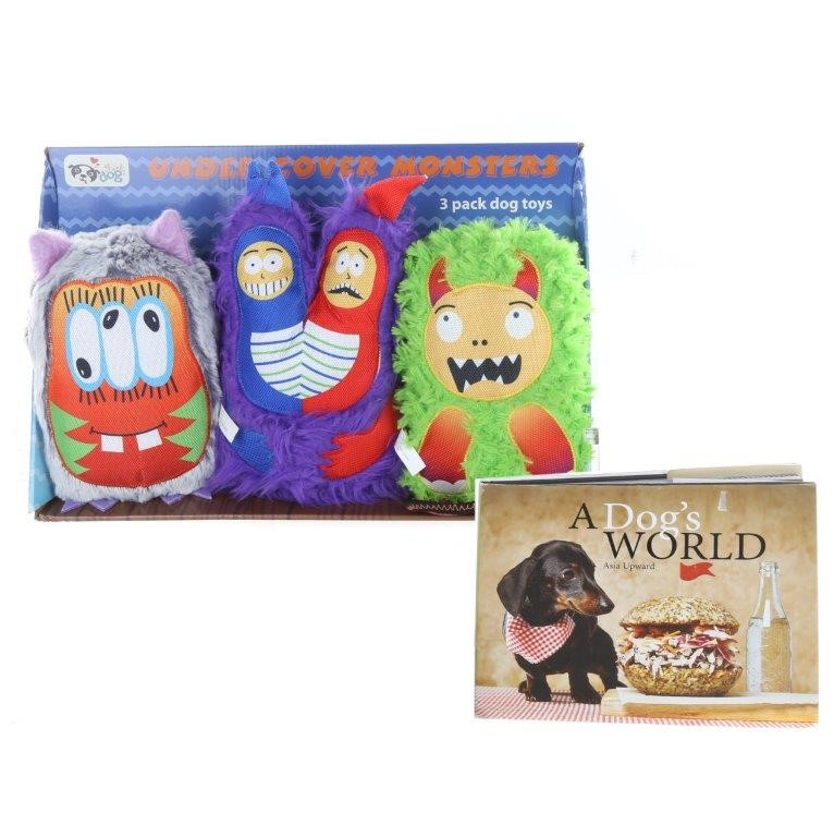 THINK DOG Undercover Monsters - 3 Pack, A Dog`s World by Asia Upward Recipe