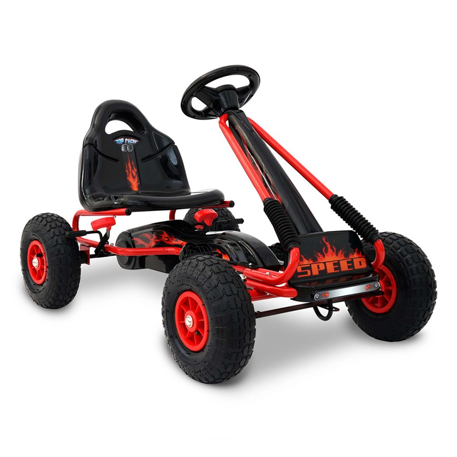 Rigo Kids Padel Powered Go Kart - Red