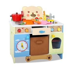 Keezi 10 Piece Kids Kitchen Play Set