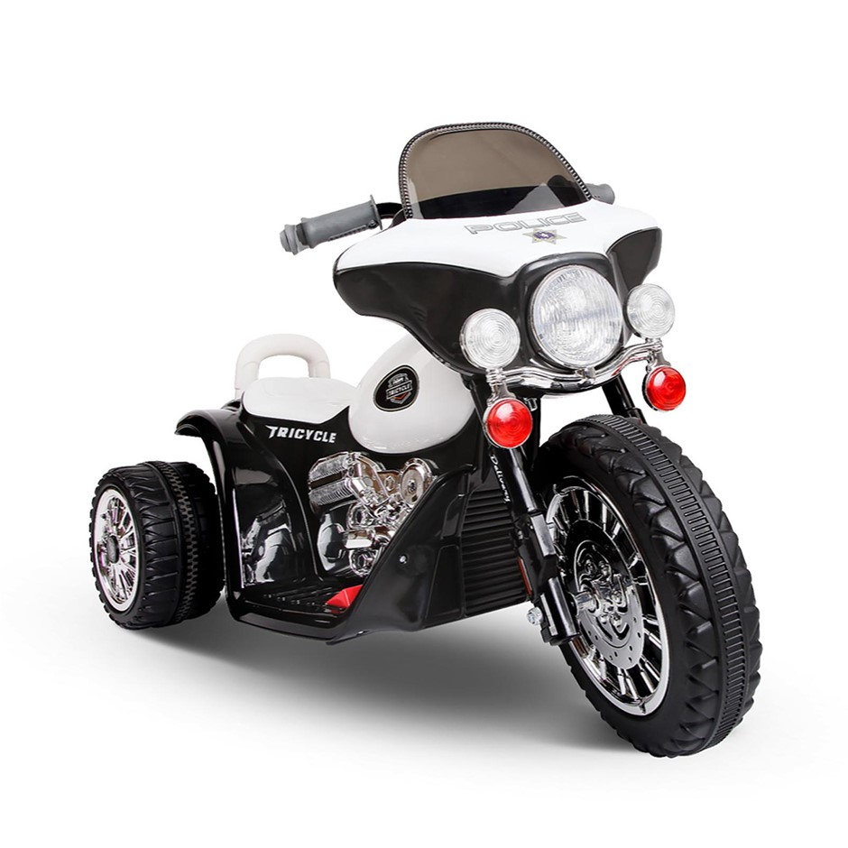 Rigo Kids Ride On Motorbike - Black & White