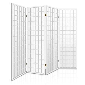 Artiss 4 Panel Wooden Room Divider - Whi