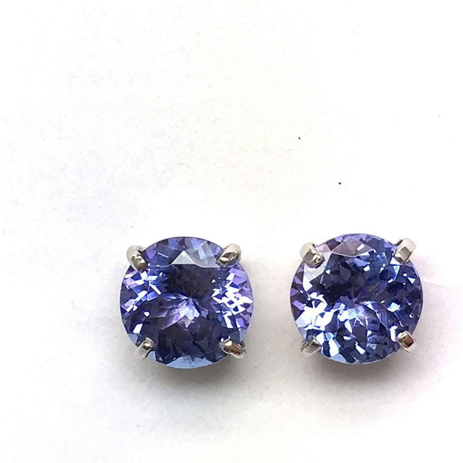 18ct White Gold, 3.40ct Tanzanite Earrings