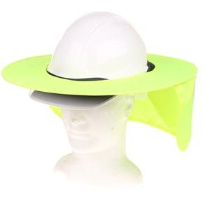 10 x MSA Brim Caps with Neck Flap, Fluro