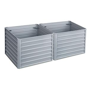 2x Galvanised Steel Raised Garden Bed Pl