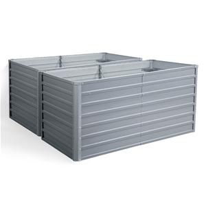 2x Galvanised Steel Garden Bed Instant P