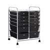 12 Drawer Kitchen Trolley Portable Rolling Cart Storage Rack Office BK