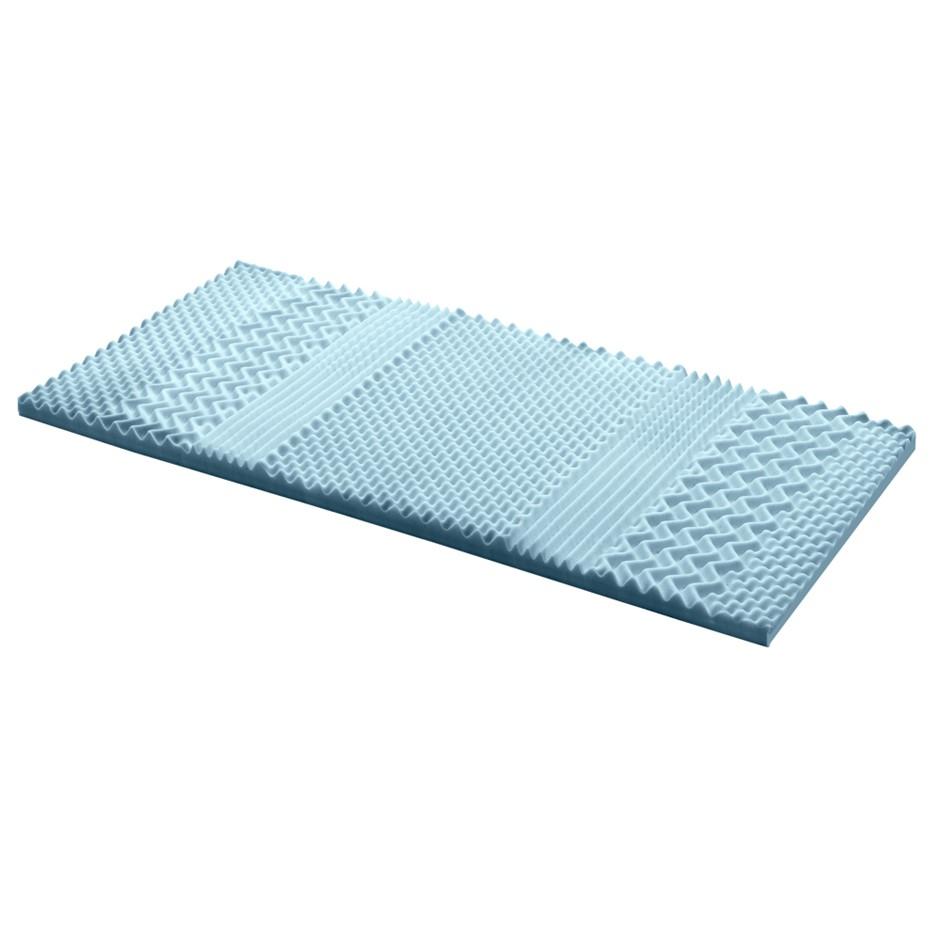 Giselle COOL GEL Memory Foam Mattress Topper BAMBOO 5CM 7-Zone Single