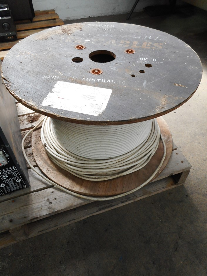 MM Cables Unknown Size & QTY Roll/ Spool Of White Electrical Cable