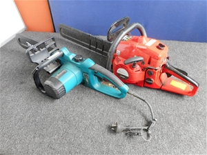 Bulk Lot Of Assorted Chain Saws