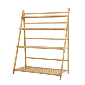 Artiss Bamboo Wooden Shelf Plant Folding
