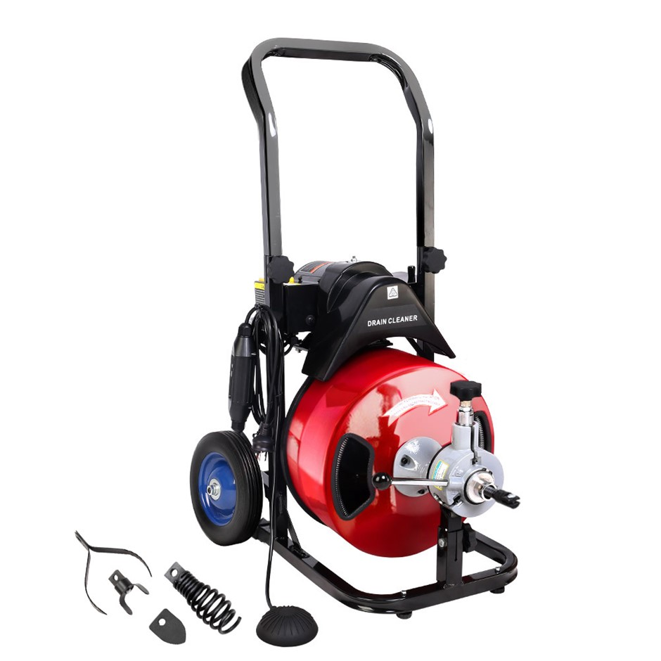 GIANTZ Electric Drain Cleaner Rigid Plumbing Sewerage Pipe Machine
