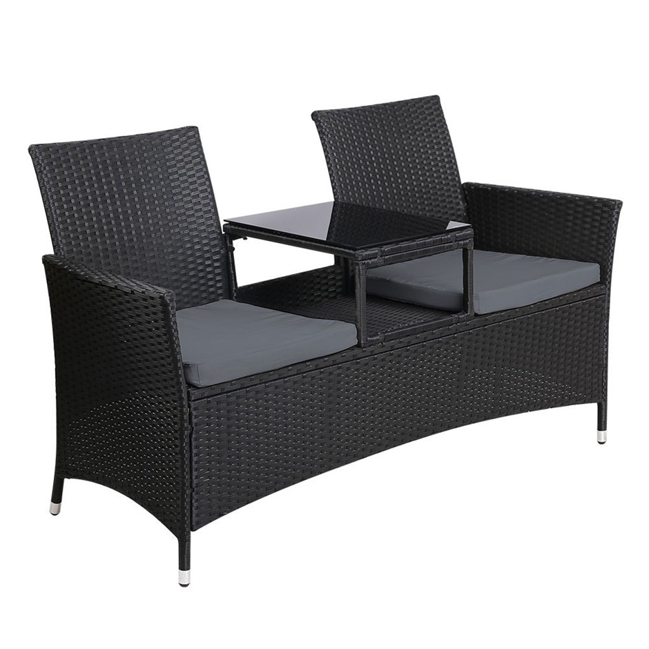 Gardeon Outdoor Furniture Patio Set Modern Sofa Wicker Cushion
