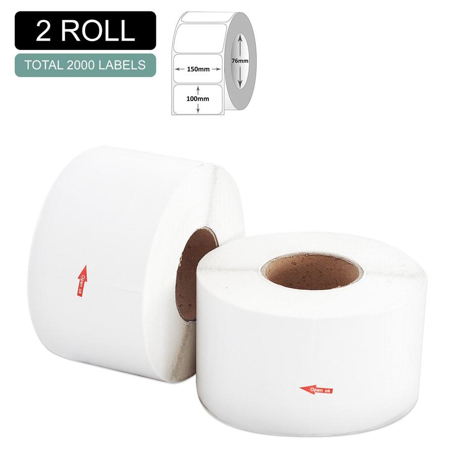 2 Rolls Thermal Label - Core 76mm x 1000pcs