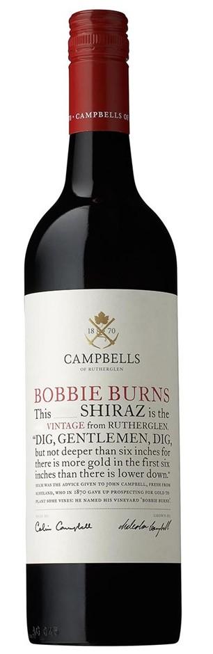 Campbells `Bobbie Burns` Shiraz 2016 (6 x 750mL), Ruthereglen, VIC.