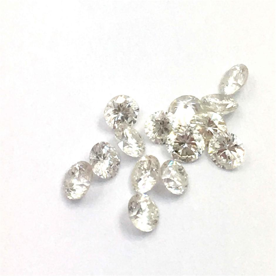 0.30ct Fifteen Stones Natural Diamond