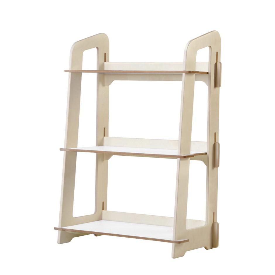 Artiss Kids Bookshelf 3 Tier Storage Shelves Ladder Shelf Toy Display