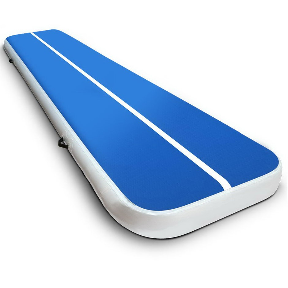 Everfit Inflatable Air Track Mat Gymnastic Tumbling 4m x 100cm - Blue