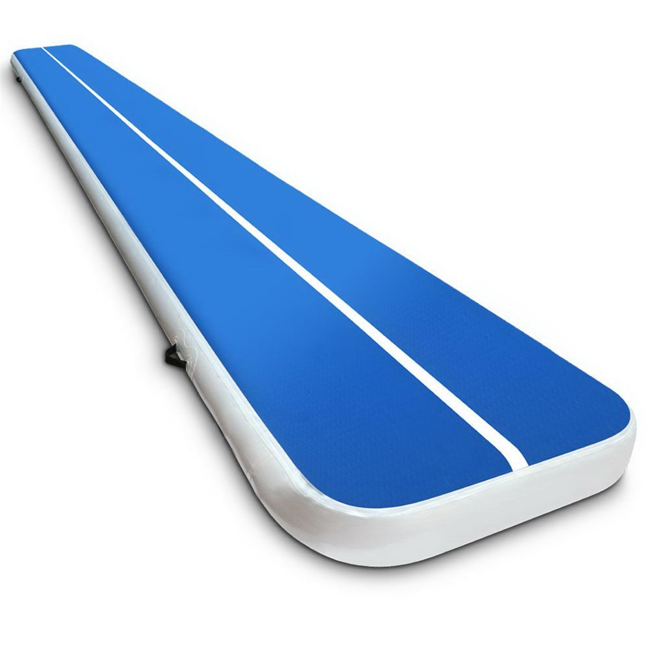 Everfit Inflatable Air Track Mat Gymnastic Tumbling 6m x 100cm - Blue