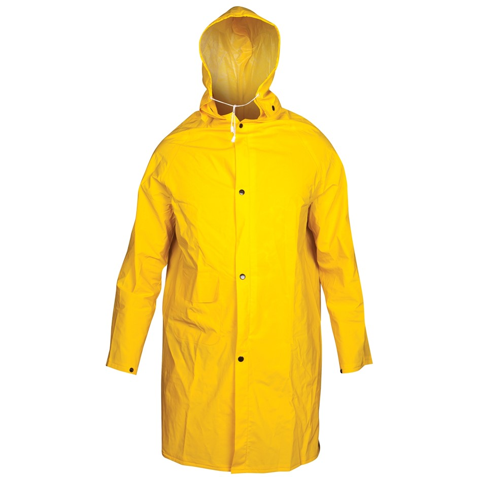 2 x TOLSEN PVC Rain Coat with Hood, 0.32mm Thickness. Buyers Note - Discoun