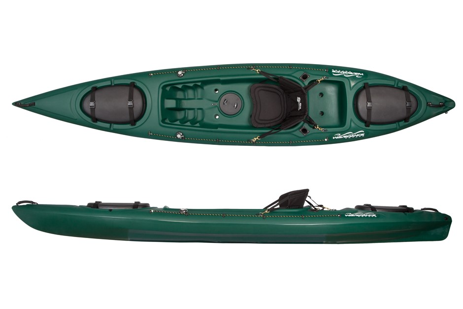 The Kingfisher 4.1m Kayak Including Seat And Paddle - Green By Wavedance Ka