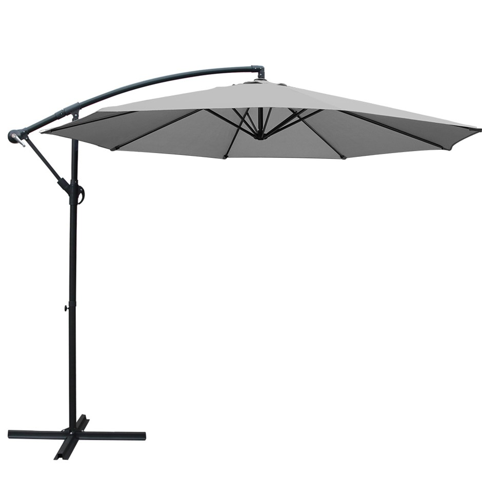 Instahut 3M Garden Umbrella Outdoor Cantilever Shade Deck Patio Green
