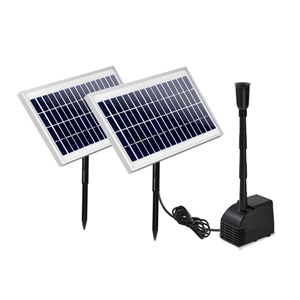 110W Water Solar Pond Pump Kit Garden Ou