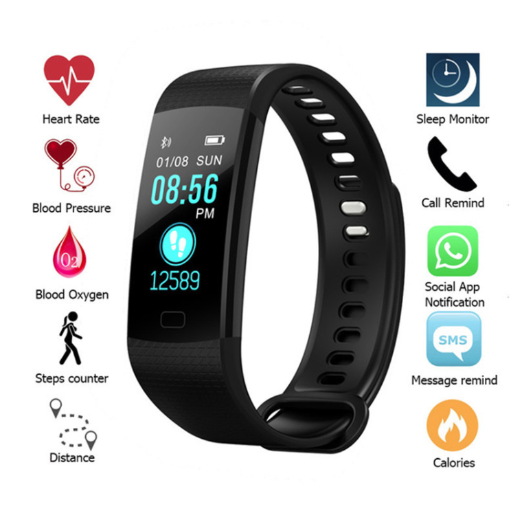 Y5 Smart wristband Colour Screen, Monitor Activity, Fitness Tracker Watch