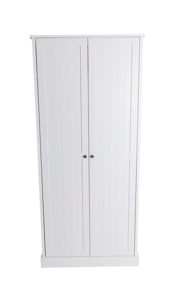 Hamptons 2 Door Broom 80cm Multipurpose Cupboard