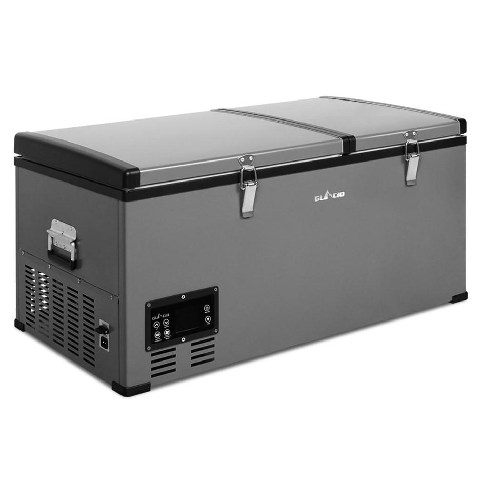 Glacio 85L Portable Fridge & Freezer 2 In 1 Camping Caravan - Black