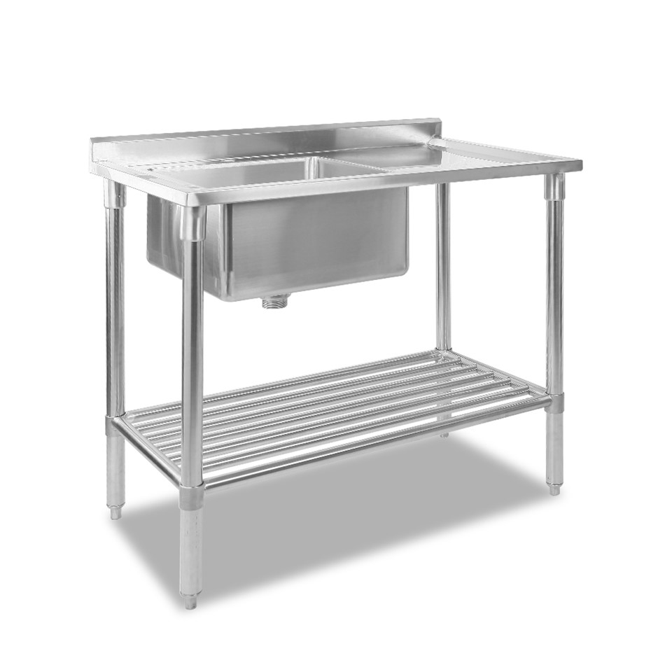 Cefito Commercial Stainless Steel Kitchen Sink Bench 100x60cm
