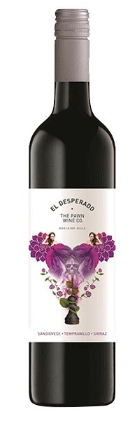 The Pawn Wine Co. El Desperado Sangi Temp Shiraz 2016 (12 x 750mL), SA.