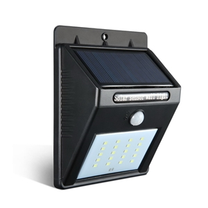 4X 20 LED Solar Powered PIR Motion Senso