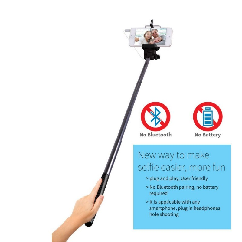 (10 Pack) Laser Universal Selfie Sticks With Control Cable