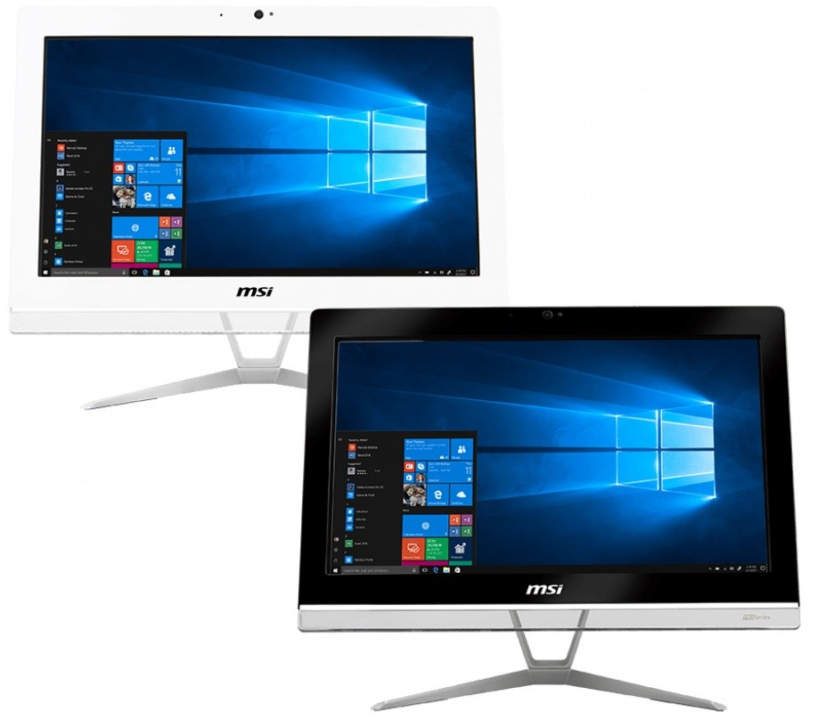 MSI Pro 20EXTS 8GL-015XAU 19.5-inch HD+ Touchscreen All-in-One PC (White)