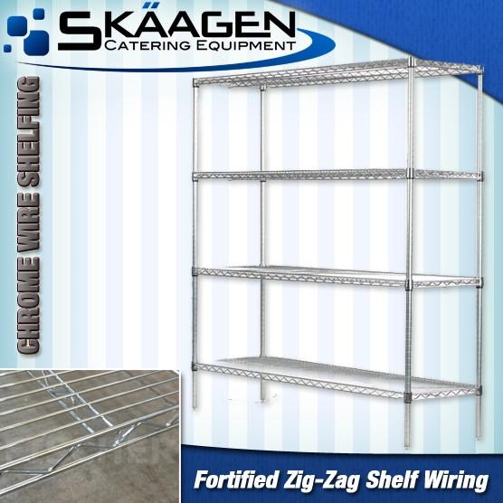 Unused Chrome Wire Shelves CS-900 x 445 x 1800