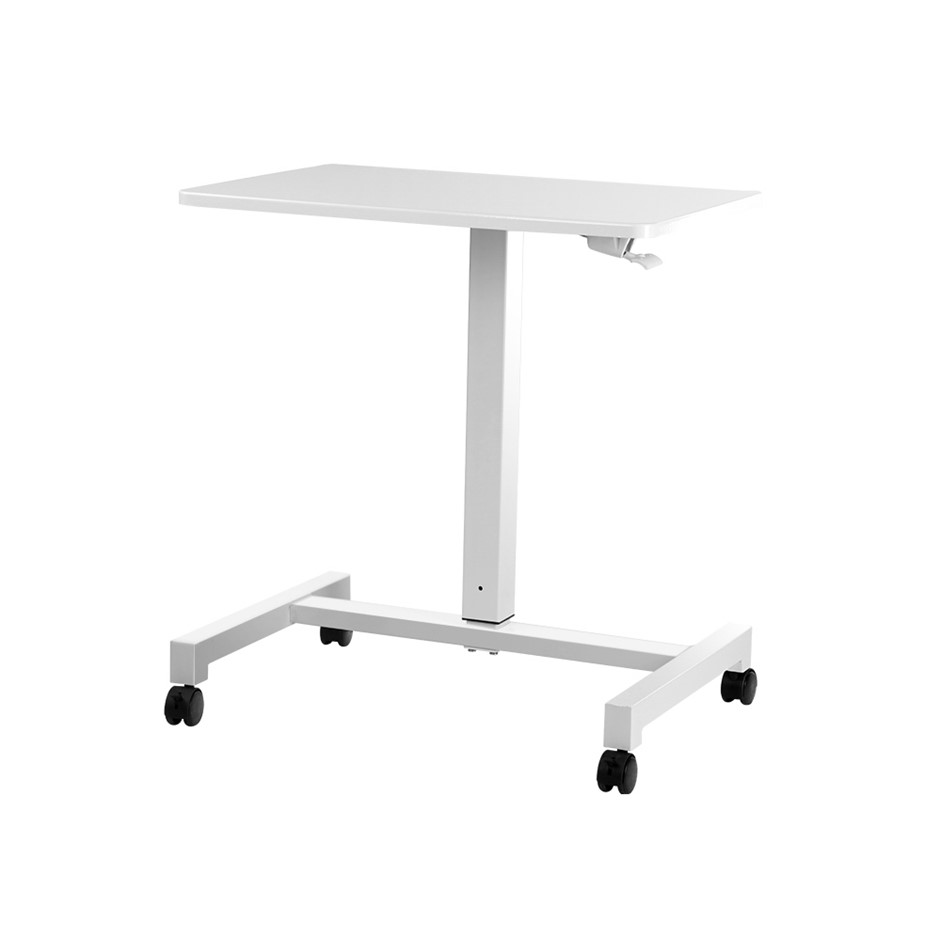 Artiss Adjustable Gas Lift Sit Stand Laptop Desk Bar Table Mobile White