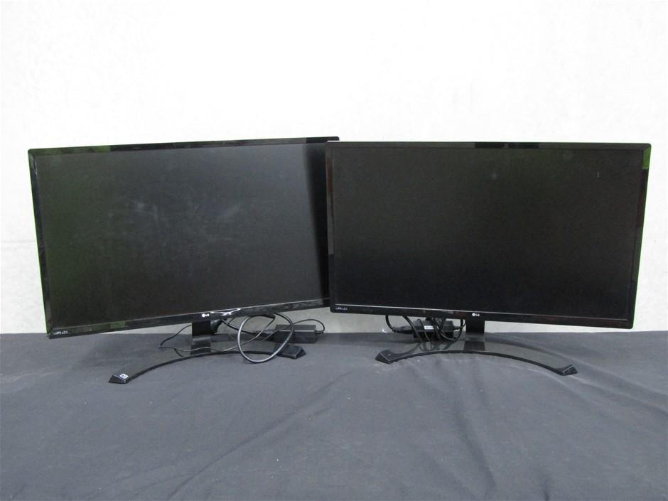 Qty 2 x 2016 LG 27MP58VQ-P 27 Inch Computer Monitors