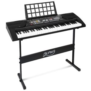Alpha 61-Key Electronic Keyboard - 81 Fe
