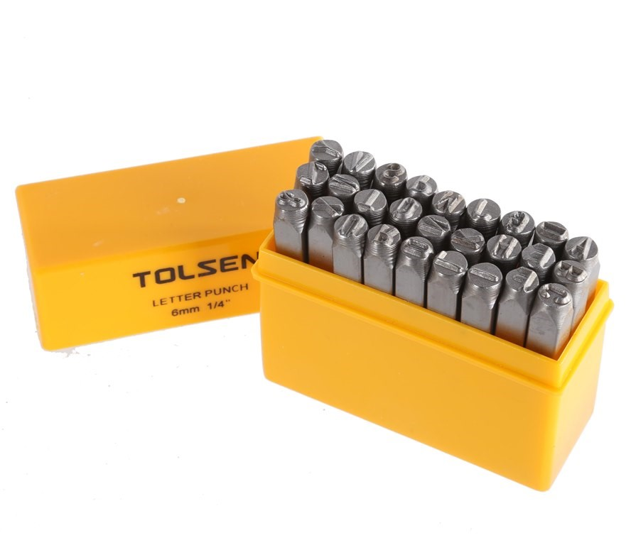 2 x TOLSEN 27pc Letter Punch Sets, 6mm. Buyers Note - Discount Freight Rate
