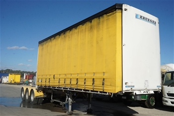 2010 Krueger ST-3-38 Triaxle Curtainside A Section Trailer