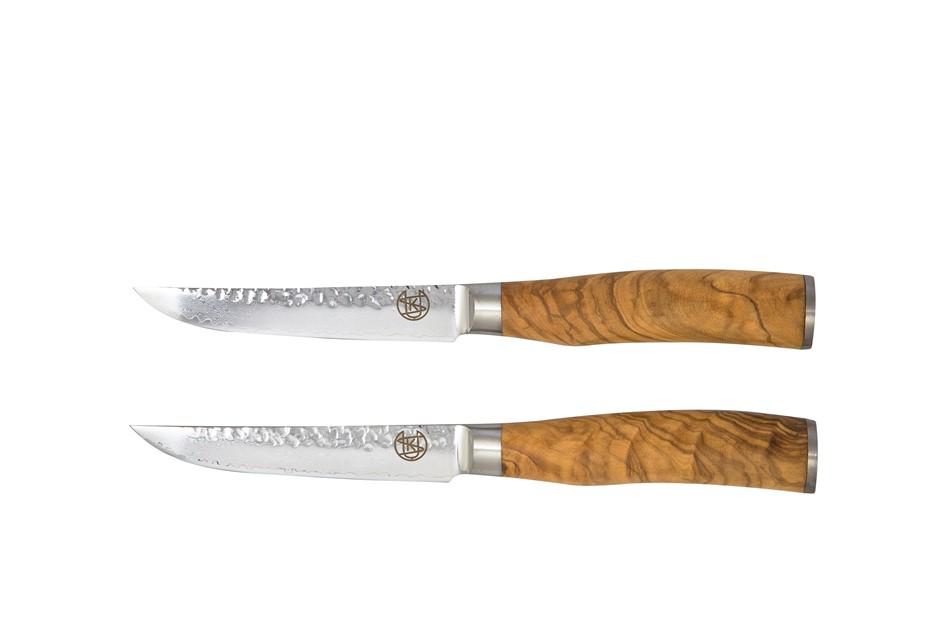 Signature Olive Wood Handle Set of 2 Steak Knives
