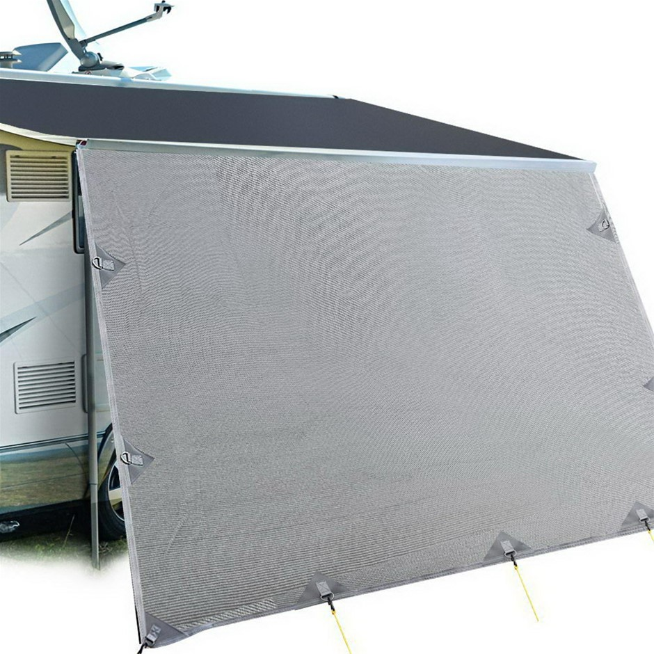 Weisshorn Caravan Roll Out Awning 3.7 x 1.8m - Grey
