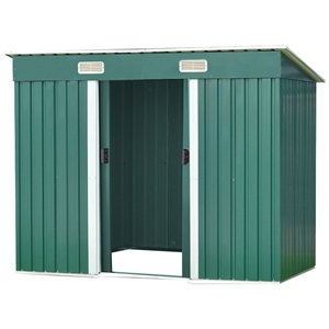 4ft x 8ft Garden Shed with Base Flat Roo
