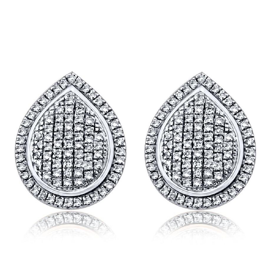 9ct White Gold, 0.29ct Diamond Earrings