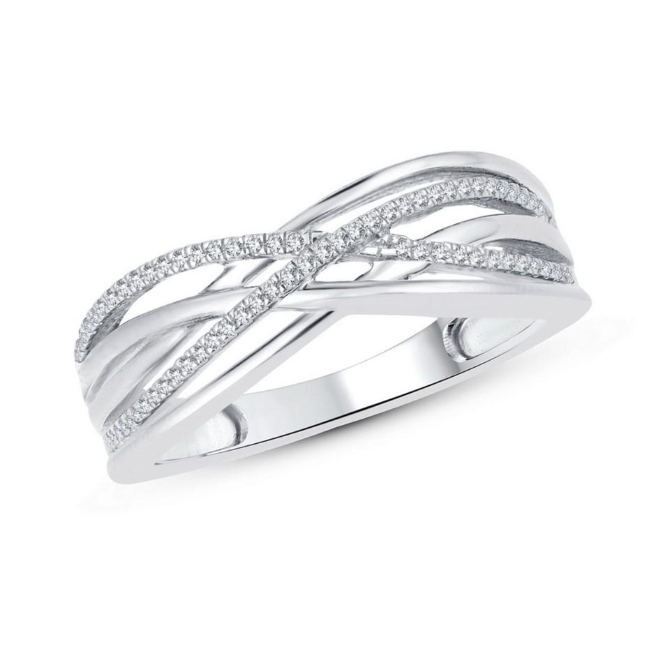 9ct White Gold, 0.07ct Diamond Dress Ring