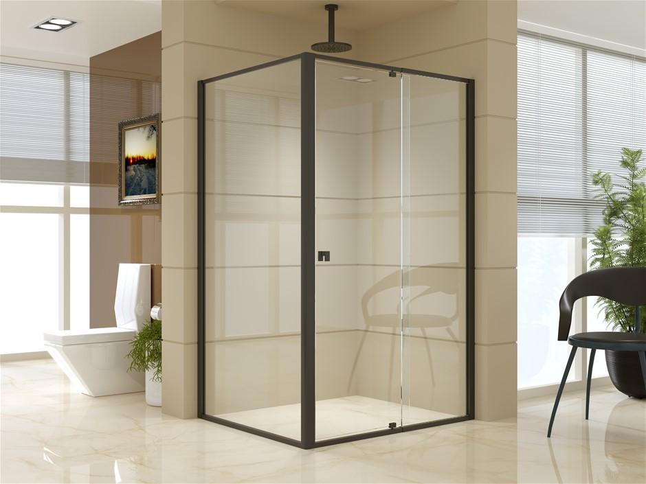 Semi Frameless Shower Screen (114~122)x 195cm & (98~101)x195cm AS/NZS Glass
